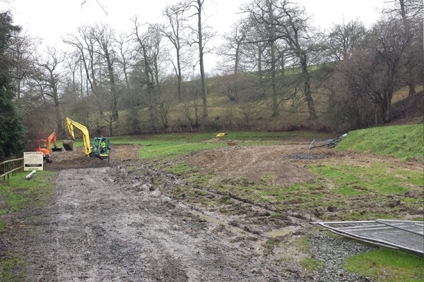 Shropshire Camping and POds Luxury Log Cabins Mountain Edge start of the build