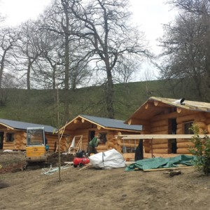 Mountain Edge Log Cabin Build April 2016
