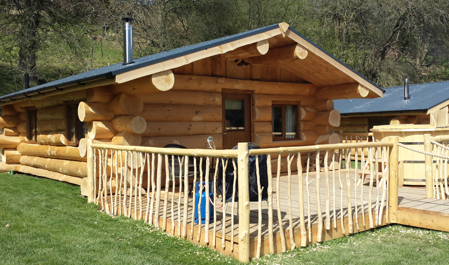 Log Cabin Accommodation with hot tub
