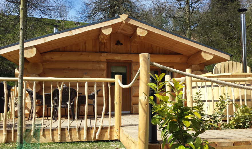 Log Cabin Accommodation with hot tub | Log cabins in Shropshire